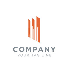 logo for business property with 3 standing poles vector image