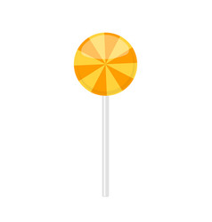 Lollipop candy with orange radial rays pattern vector