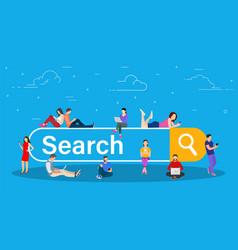 online search bar concept vector image