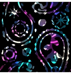 Paisley image on black background vector