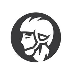 pelota athlete in helmet sign simple silhouette vector image
