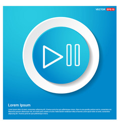 Play pause icon vector