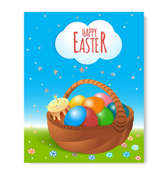 poster easter basket-04 vector image