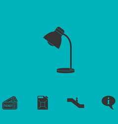 reading lamp icon flat vector image