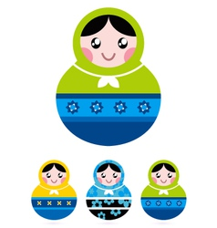 Russian doll serries vector