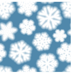 seamless pattern of big blurry snowflakes vector image