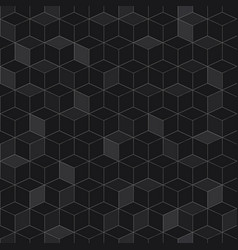 seamless pattern of black cubes vector image
