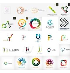 Set branding company logo elements vector