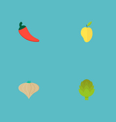Set of berry icons flat style symbols with vector