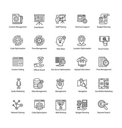 Set of web and seo line icons vector