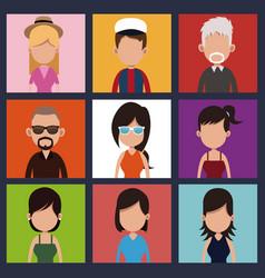 Set people community meeting vector