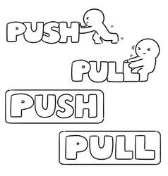Set push pull sign vector