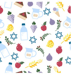 shavuot seamless pattern on vector image