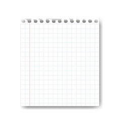 sheet paper on white background vector image