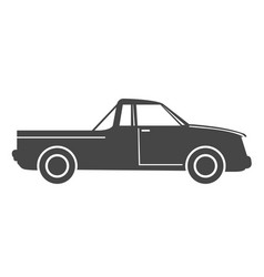 Silhouette of pick up truck car - simple icon vector