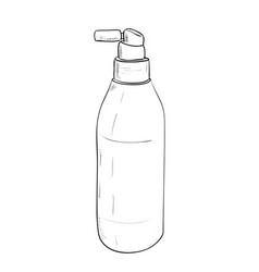 Sketch bottles of hair spray vector