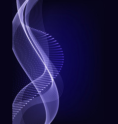 smooth smoke particle wave big data techno vector image