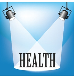 Spotlight Health vector image