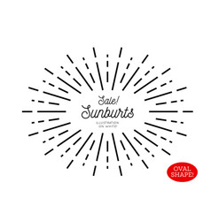 Sunburst design element oval shape vector