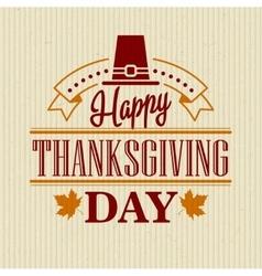 Typographic Thanksgiving Design vector image