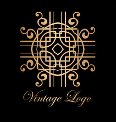 Vintage golden logo vector