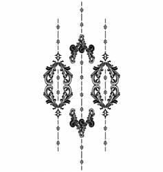 vintage vertical vector image