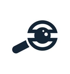 Vision icon vector