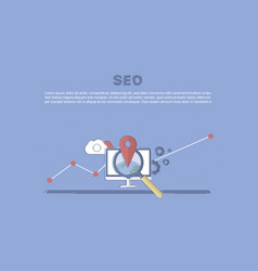website seo optimization vector image