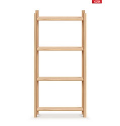 wooden rack storage stand vector image