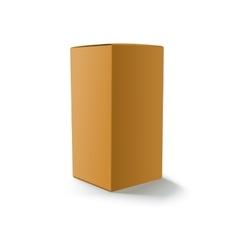 Blank yellow box isolated vector image