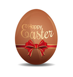 easter egg tied with a red ribbon and bow vector image