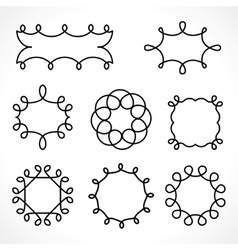 frame curls vector image vector image