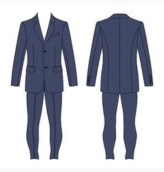Mans grey suit jacket skinny jeans vector