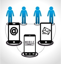 mobile connect design vector image