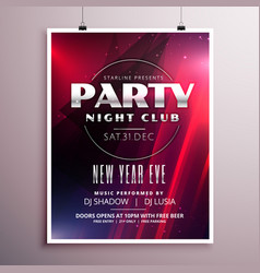 Nightclub party flyer template design with event vector