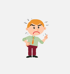 White businessman very angry vector