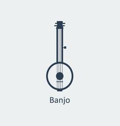 banjo icon silhouette icon vector image