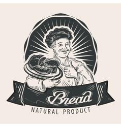 Bread logo design template Cooking food vector image
