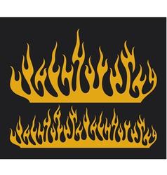 burn flame vector image