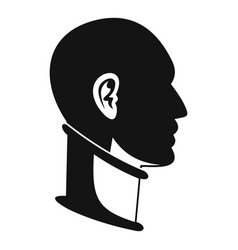 cervical collar icon simple style vector image