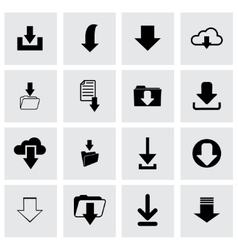 download icon set vector image vector image