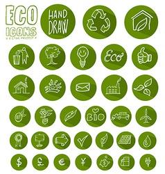 Eco icon button set vector