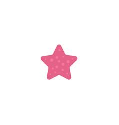flat cartoon pink colored starfish star fish vector image