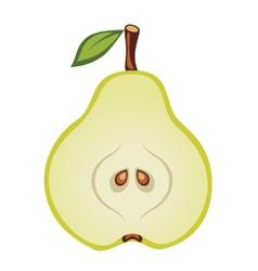 Half of pear vector image vector image
