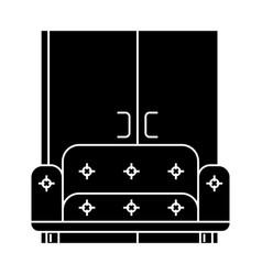 living room sofa wardrobe icon vector image