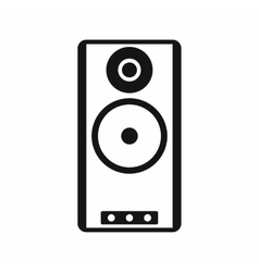 Speaker icon in simple style vector image