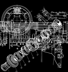 technical drawing vector image vector image