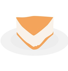 Cake slice plate vector image vector image