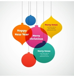 Christmas ornaments - colorful background vector image vector image