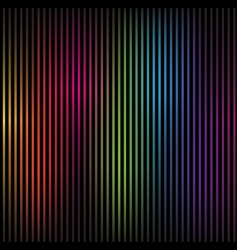 colorful rainbow lines vector image vector image